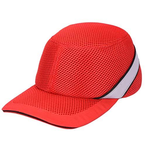 Cappellino Anti-collisione Cappellino Anti-collisione, Casco Protettivo Per Adulti Cappuccio Da Lavoro Sportivo PE/Cappuccio Antiurto, Unisex, 4 Colori (colore : A)