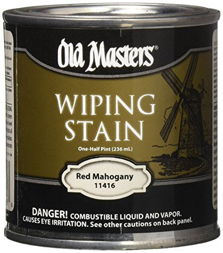 OLD MASTERS 11416 Oil Based Wiping Stain, 0.5 pt, Red Mahogany