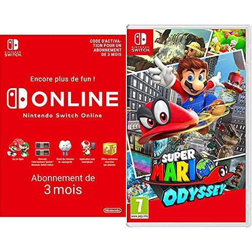 Super Mario Odyssey + Nintendo Switch Online - Abonnement 3 Mois