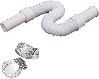 Kit de extensión de manguera de evacuación para lavavajillas y lavadoras, Manguera de drenaje universal, longitud 35-80 cm...