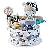 MomsStory – Tarta de pañales, niño o perro, regalo para nacimiento, bautizo,...