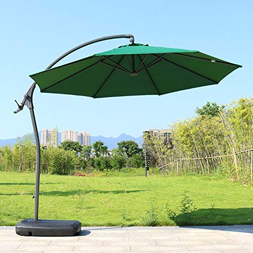 SUNYUE Bewegliche Basis für versetzten Sonnenschirm - Schirmständer Kunststoffgewicht - Mit Wasser oder Sand füllen