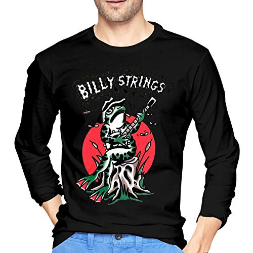 t99 Billy Strings Shirt Men's Classic Long Sleeve T-Shirt Pullover O Neck Tops Camicie e T-Shirt(Small)