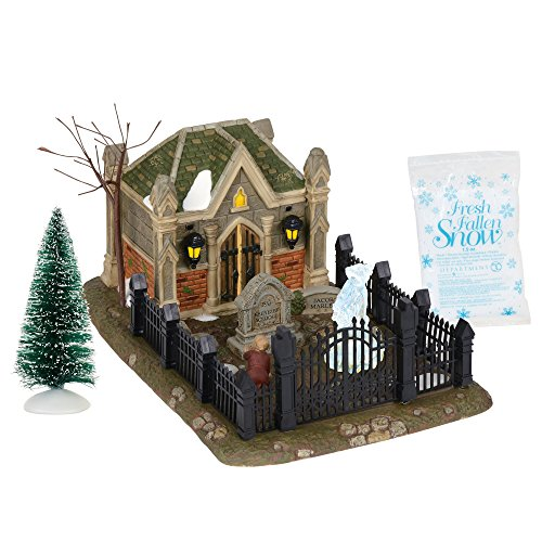 Department 56 Dicken's Village Christmas Carol Cemetery Lit Scene and Accessories Set, 9.75 Inch, Multicolor