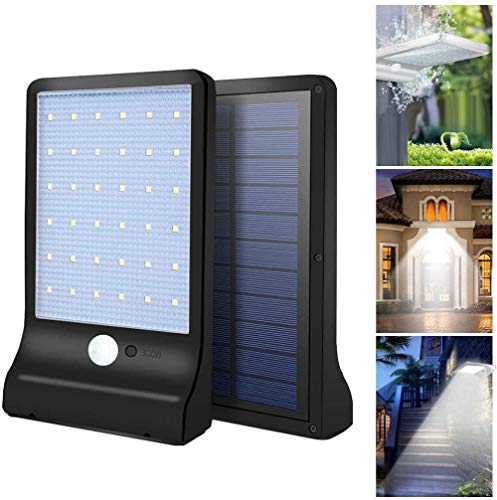 KONGWU Luces de Pared solares LED Luces con energía Solar Lámpara de Pared al Aire Libre Luces de Sensor de Movimiento a Prueba de Agua para jardín Patio Pasarela Amazing