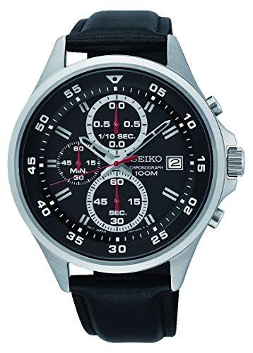 Seiko Orologio Cronografo Quarzo Uomo con Cinturino in Pelle SKS635P1