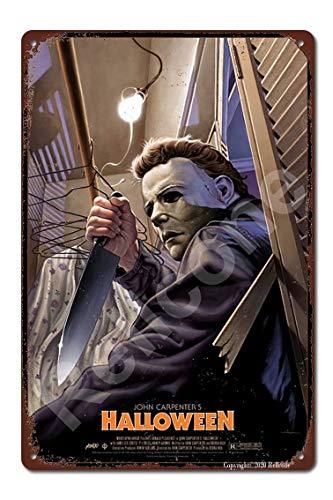 Halloween 1978 Horror Film Movie Vintage Retro Tin Sign Size 8x12 Inches Bar Wall Decor Movie Poster