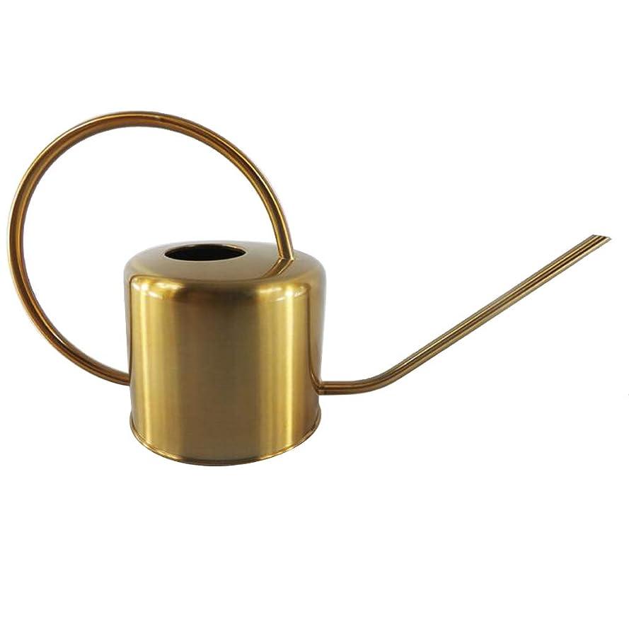 とても多くのエラー崩壊PETSOLA ステンレス鋼 植木鉢 ミニ盆栽 園芸工具 じょうろ ゴールドポット 写真小道具 庭 園芸用具