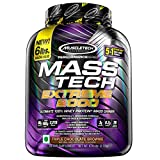 Muscletech Performance Series Mass Tech Extreme 2000 (3g Creatine, 8.2g Leucine, 20 Vitamins & Minerals) - 6lbs (2.72kg) (Triple Chocolate Brownie)