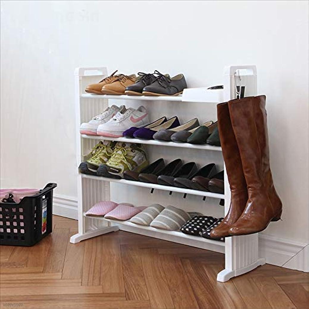 宣伝市場荒廃するJia Jia Shoe rack 実用的な靴ラック - フラットボトムマルチシューズラック - 靴のキャビネットラックキャビネットタワーはスペースを節約多機能ストレージデザイン !! (Color : White)