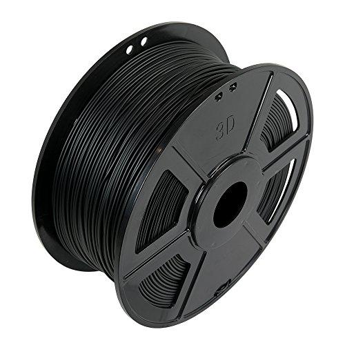 WYZworks Soft Flexible PLA 1.75mm (Black) 3D Printer Filament 1kg/2.2lb (+ with Multiple Color Options)