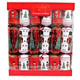RSW XM4682 Christmas Luxury Crackers - Cascanueces y Árbol, Caja de 12