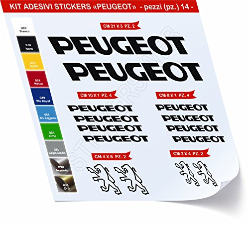 Pimastickerslab sticker voor fiets, Peugeot Kit Stickers 14 delen -Scegli SUBITO Colore- Bike Cycle Pegatina cod.0455