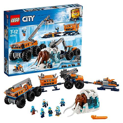 LEGO City - Ártico Base Móvil de Exploración, Juguete Creativo de Construcción con Camión y Moto de Nieve para Niños y Niñas de 7 a 12 Años, Incluye Minifiguras y Mamut (60195)
