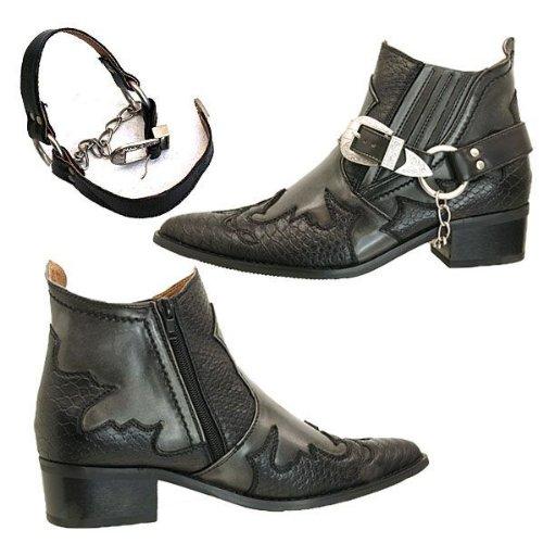[リチャードスミス]RICHARDSMITHリングブーツ/サイドゴア/黒/ショートウエスタン92912黒25.5cm