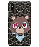 Fashion Case iPhone Xs, iPhone Xs Cartoon Teddy Bear K Bear Hype for iPhone X/XS (Bear, X/XS)