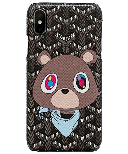 Fashion Case iPhone Xs Case, iPhone X Case Luxury Fashion Teddy Bear K Bear Hype for iPhone X/XS (Bear, X/XS)