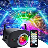 AMKI Party Light + Disco Ball Lamp 2 in 1 Dj Disco Lights for Parties Strobe Lights Sound Activated with Remote Club Lights for Room Xmas Club Bar KTV Holiday Dance Birthday Wedding Home