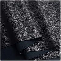 合皮レザー、ソファー補修 フェイクレザー生地ビニールレザークロス素材1.1mm厚く、耐摩耗性と弾力性のあるレザーレット張り生地素材幅138cm (Color : 30#black)