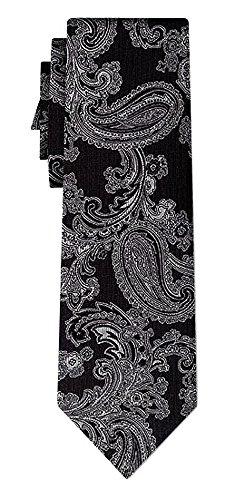 Cravate soie paisley pattern black