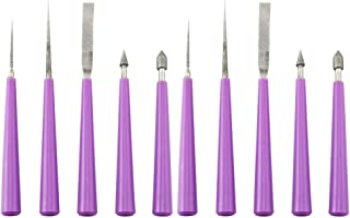 EXCEART 10 Pcs Diamond Tipped Bead Reamer Beading Hole Enlarger Tool (Purple)