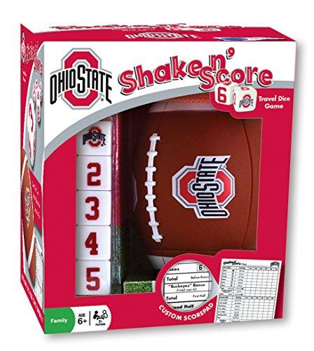 MasterPieces NCAA Ohio State Buckeyes Shake N' Score Travel Dice Game