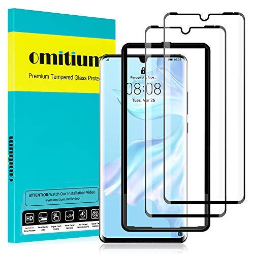 omitium Verre Trempé pour Huawei P30 Pro, [2 Pièces] Huawei P30 Pro Protecteur D'écran [avec Cadre d'Alignement] Anti Rayures Couverture Maximale 9H Dureté Film Protection Écran Huawei P30 Pro vitre
