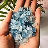 NUOLAI Muestras de Cristal Natural Cristales con Piedra Natural y decoración de Acuario Mineral. (Size : 200g)