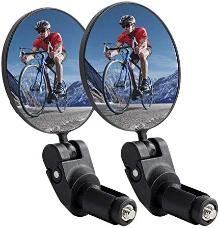 Arotuta Bicycle Rear View Mirror 360 Rotating Bar End Mirror Bike Handlebar Convex Mirror and product image