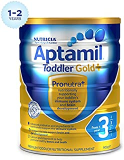 Aptamil Gold+ 3 Toddler Nutritional Supplement from 1 year 900g/Aptamil爱他美金装3段奶粉900g BFAPGOLD3TODDLER900G