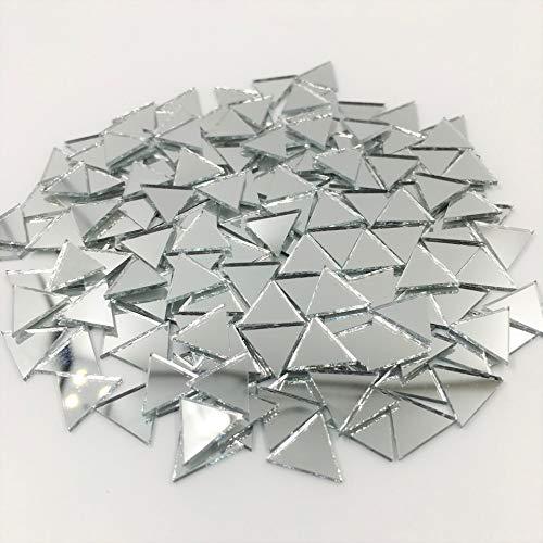 Mosaikfliesen, dreieckig, 12 mm, silberfarben, 120 Stück