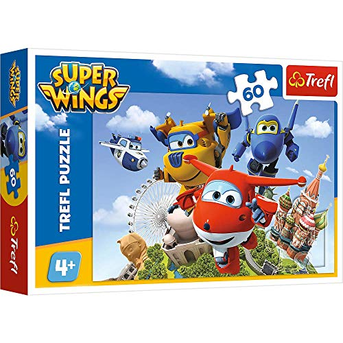 TREFL 60 el. Lot dookoĹa Ĺwiata - Super Wings [PUZZLE]