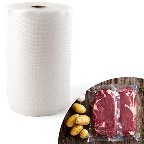 Anladia Folienrolle 28cmx3000cm/1 Roll Vakuumfolie Beutel Wiederverwendbar rutschfest für Lebensmittel Sous-Vide, für Folienschweißgeräte Kochfest Profi- Folienbeutel(L)