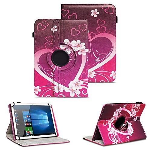 NAUC Schutzhülle kompatibel für Asus ZenPad 10 Z300M Z301ML Z301MFL Tablet Hülle Tasche Standfunktion 360° Drehbar aus Kunst-Leder Cover Universal Hülle, Farben:Motiv 6