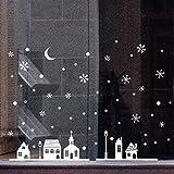Pas cher Autocollant Décoration de fenêtre de magasin de Noël Autocollants muraux Flocons de neige de Noël big sales