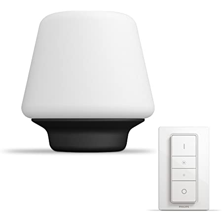 Philips Hue Wellness White Ambiance Smart Table Light LED with Dimmer Switch, Works with Alexa, Google Assistant and Apple HomeKit