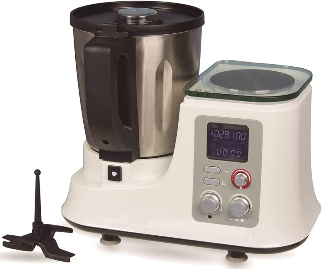 BEST DIRECT Chef-O-Matic Procesador de Alimentos Amasadora Mezclador Robot De Cocina Multiuso Olla Programable | 1200 W 11 Programas 2 Litros Para Todo Tipo De Comida Platos Perfectos Sin Esfuerzo