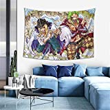 Narukrstore Teen Girls Classic Wall Hanging Tapestry 60 x 40 in, Durable Non Fading Japanese Anime One Piece Cavendish Bartolomeo Wall Tapestries, Cool Bed Throws for College Restaurant