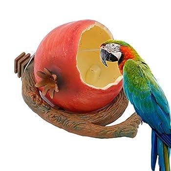 WAZA Mangeoire ou Abreuvoir pour Oiseaux Bol Pendentif Bol Alimentation de Loups Forme de Furet pour graines et Nourriture pour Oiseaux pénibles Cotorras Cacatúas Canario