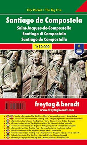 Santiago de Compostela, plano callejero de bolsillo plastificado. City Pocket. Escala 1:10.000. Freytag & Berndt.: Stadskaart 1:10 000: 132 CP