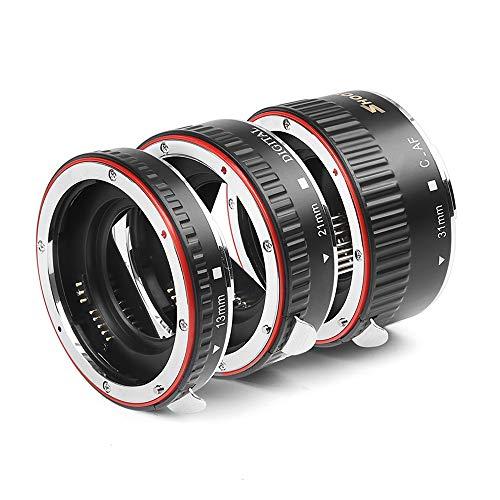 D&F AF Auto Focus Macro Extension Tube Set EOS EF/EF-S Lens Close-ups for Canon EOS EF Lens Such as Canon 7D,500D,600D,700D,5D Mark II III, Rebel T2i, T3i, T5i.