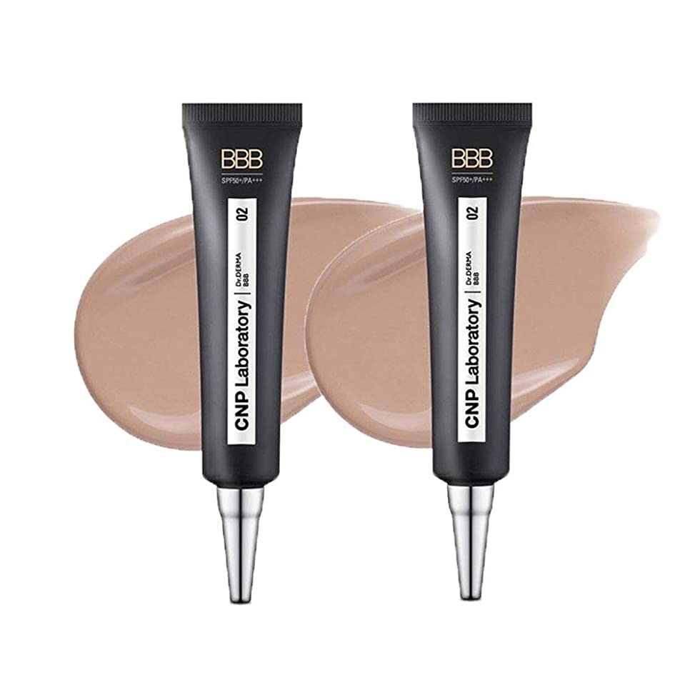 カビサンダース原始的なCNPドクターダーマBBB30mlx2本セット2色BBクリーム韓国コスメ、CNP Dr.Derma BBB 30ml x 2ea Set 2 Colors BB Cream Korean Cosmetics [並行輸入品] (No.2 Natural Beige)
