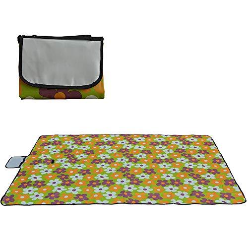 DCDZ Couverture De Pique-Nique Imperméable Beach Blanket Pad Résistant À L'humidité Poids Net 400g 59x31,4 Pouces Convient pour Le Camping, La Plage, Les Voyages, Les Bébés Rampants (Couleur : A)