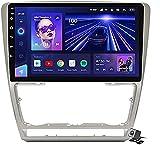 LYHY Android 10 MP5 Player Reproductor Multimedia para automóvil GPS Compatible con Skoda Octavia 2 A5 2008-2013, Soporte WiFi 4G DSP/FM RDS Stereo Car Radio/BT Llamadas Manos Libres/Control de vola