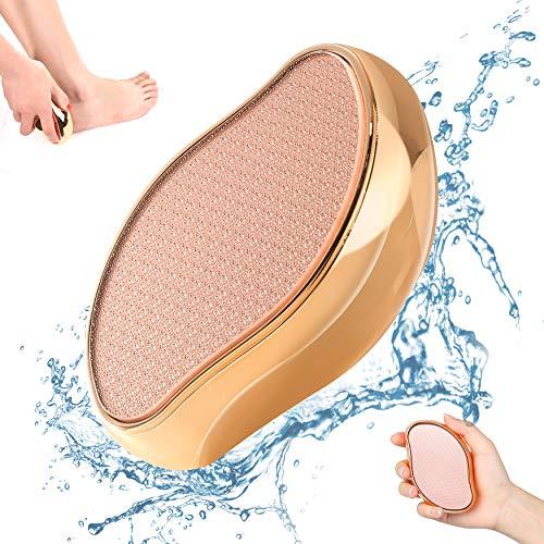 BEZOX 2in1 Nano Glas Hornhautentferner - Hochwirksame Hornhautfeile für samtweiche Füsse - Professionelle Fußpflege sicher & schnell Zur Hornhautentfernung auf nassen und trockenen Füßen