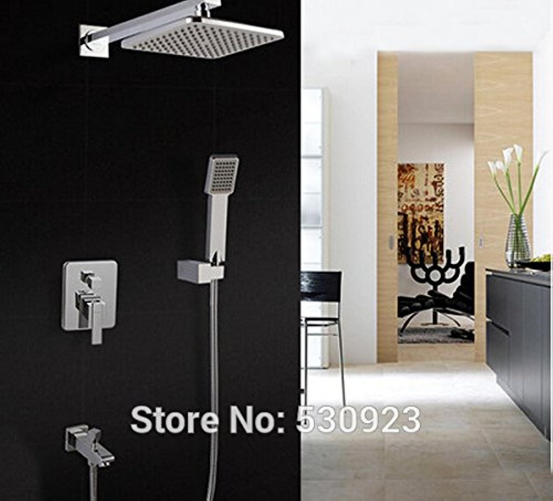 Maifeini Neu Moderne Badezimmer Dusche Wasserhahn Ed Tippen Sie Auf Abs Duschkopf 8-Zoll W Abs-Handheld Dusche An Der Wand Montiert, Multi