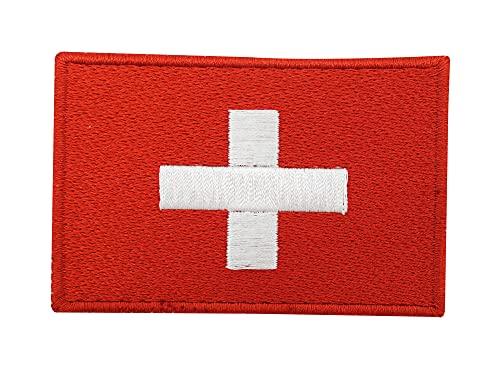 Schweiz Flagge Patch mit Klett Rückseite | Schweizer Klettpatches, Suisse Militär Fahne Patches, Switzerland Flag Klettpatch Finally Home
