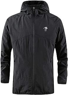 Fashion Men's Autumn Winter Coat Outdoor Tops Casual Hooded Windbreaker Jacket
