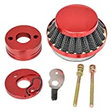 HIAORS Red 44mm Air Filter Adapter Velocity Stack for 2 Stroke 33cc 43cc 49cc Big Foot Gas Scooter MOTOVOX MVS10 EVO Gas Powered Scooter X Dirt Dog 43cc 47cc 49cc Engines