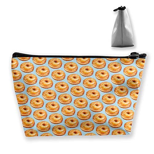 Bagel Food Funny Pattern Makeup Toiletry Bag Travel Cosmetic Organizer Multi-propósito Trapezoidal Storage Tote Bolsa de Herramientas de Maquillaje Bolsa de Maquillaje cosmético Bolsas con Cremallera
